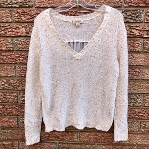 Sequin and Chiffon Sweater